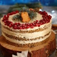 Tort makowy z kremem z białej czekolady