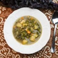 zupa z jarmużu z kaszą gryczaną