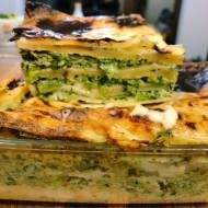 Piątek: Wegetariańska lasagna ze szpinakiem i groszkiem