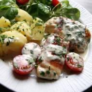 Piersi z kurczaka w sosie z gorgonzolą