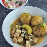 Tofu w kremowym sosie koperkowym