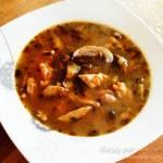 Flaczki z pieczarek, rozgrzewająca zupa