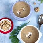 Zupa grzybowa z orzechami