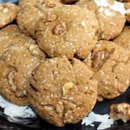 Przepyszne ciasteczka kokosowo-orzechowe z palonym masłem