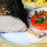 Schab gotowany w ziołach