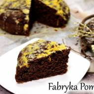 Owsiane ciasto czekoladowo-pomarańczowe z migdałami