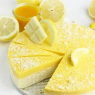 SERNIK CYTRYNOWY Z PANNA COTTĄ MANGO – bez białego cukru!