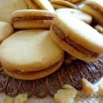 Ciasteczka pomarańczowe z masą figowo-orzechową
