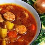 Zupa cebulowa w pomidorach