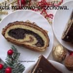 Strucla makowo-orzechowa.
