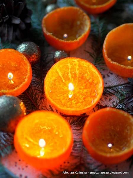 Lampki z mandarynek. DIY świąteczne