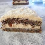 Tort makowy z kremem budyniowym (Torta ai semi di papavero con crema di budino)