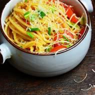 Spaghetti z pieczoną dynią