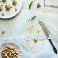 Praliny pistacjowe z białą czekoladą