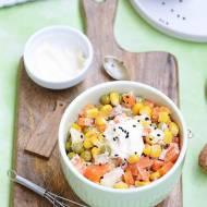 Sałatka jarzynowa z kukurydzą i majonezem