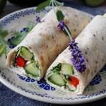 Wrapy wegetariańskie z awokado