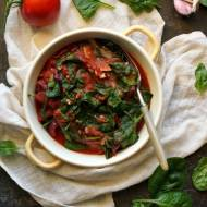 Szpinak z pomidorami (dieta dr Dąbrowskiej)
