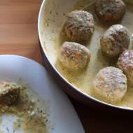 Dietetyczne pulpety drobiowe w sosie koperkowym bez śmietany