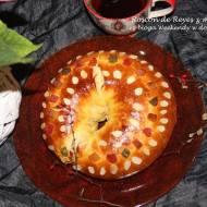Roscón de Reyes z marcepanem