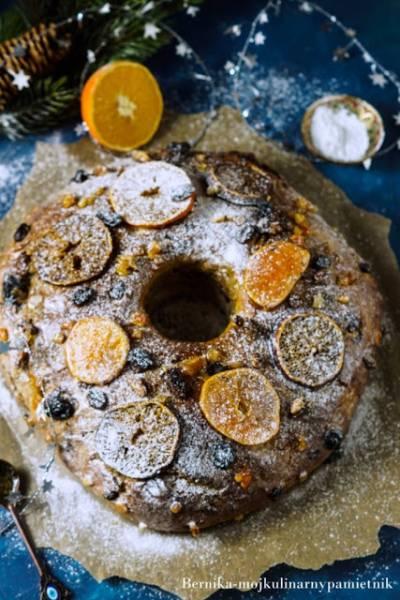 Ciasto świąteczne portugalskie Bolo Rei