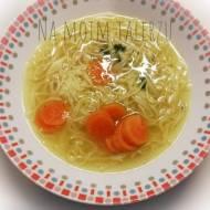 Rosół z pieczonych warzyw