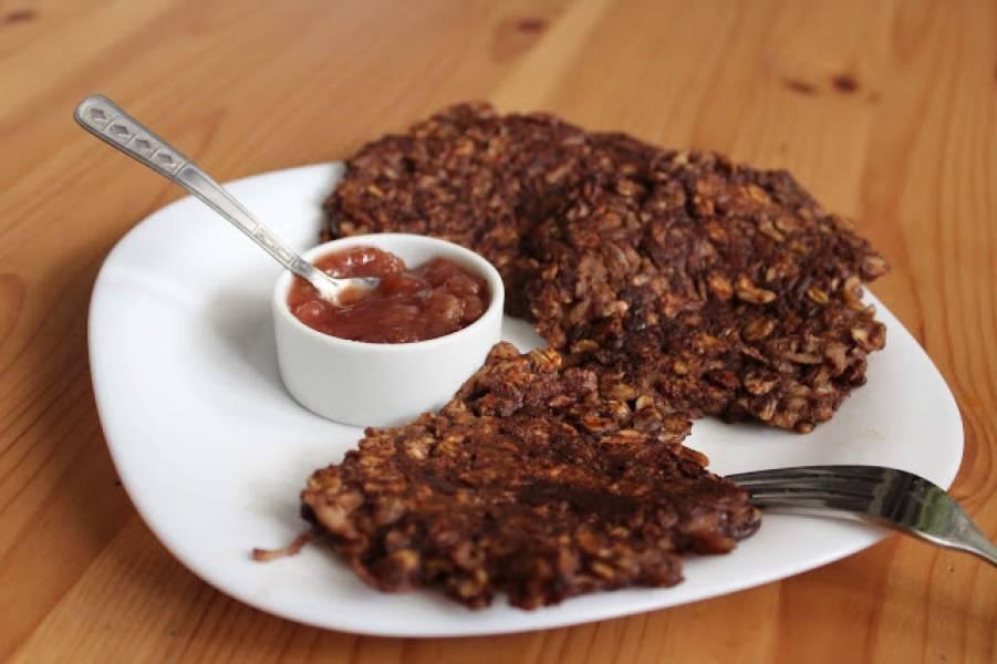 Fit czekoladowe placuszki owsiane