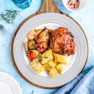Aromatyczne pieczone podudzia z kurczaka