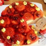 Pyszne ciasto z czekoladowym kremem mascarpone, wiśniami i galaretką (bez pieczenia)