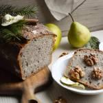 Chleb pszenno-orkiszowy na zakwasie z orzechami
