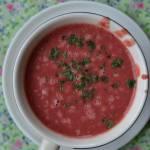 Zupa-krem buraczkowo-kokosowa, z lekkim imbirowym posmakiem...