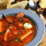 Zupa pomidorowa z grzybami i ryżem