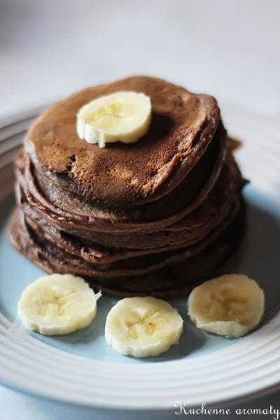 Placuszki bananowo - owsiane z masłem orzechowym