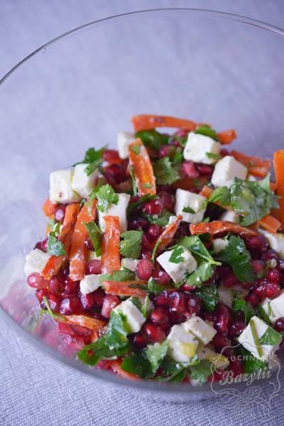 Przepis Na Salatka Z Pieczona Marchewka Granatem I Serem Feta