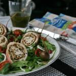 Sama NATURa czyli  sałatka  zrolowana z podsuszonymi pomidorkami