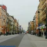 Zabytkowe kamienice na ul. Piotrkowskiej w Łodzi pod numerami 98, 99, 100,101