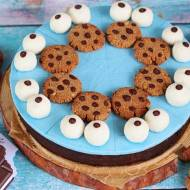 Proteinowy torcik Cookie Monster  (bez glutenu, cukru białego, laktozy, wegańskie)