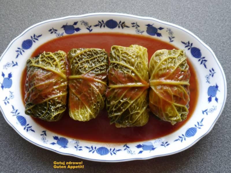 Gołąbki z włoskiej kapusty i indyka - zdrowsza wersja