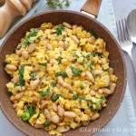 Potrawka z soczewicą, fasolą, jarmużem i makaronem (Quadrettoni con lenticchie, fagioli e cavolo riccio)