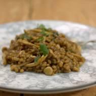 Pęczak z grzybami shimeji – pęczotto z shimeji