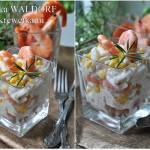 Sałatka Waldorf z krewetkami. Shrimp Waldorf Salad.