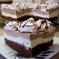 Ciasto kawowo-bezowe z kremem-rozpływa się w ustach