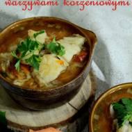 Zupa rybna z warzywami korzeniowymi