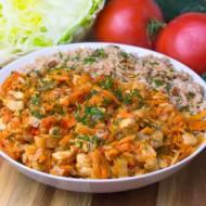 Gulasz z indyka z boczniakami i warzywami