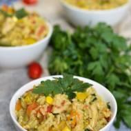 Risotto z indykiem i warzywami
