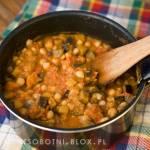błyskawiczna potrawka z bakłażana i warzyw strączkowych