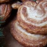 Palmiery z ciasta francuskiego