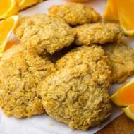 Pomarańczowo-kokosowe ciastka owsiane