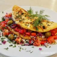 Omlet z warzywami - Wegetariańskie śniadanie