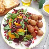 Pomarańczowa sałatka z burakami i pulpecikami (Insalata con barbabietole, arance e polpettine di bovino)