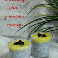 Pudding chia z musem mango